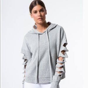 Alo ripped sleeve hoodie